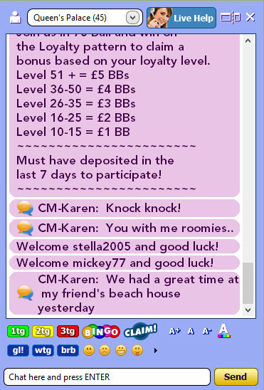king jackpot live chat board
