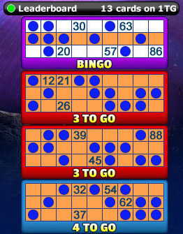 playing king jackpot 90 ball bingo game