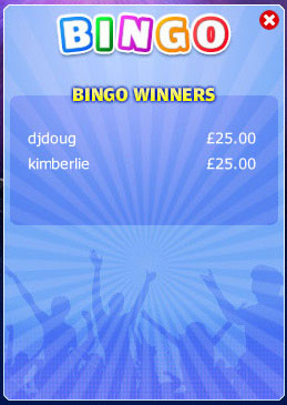 king jackpot winning bingo message