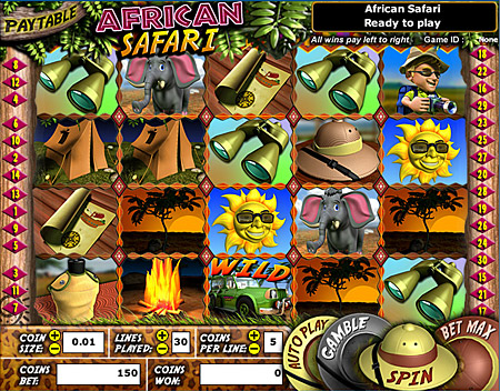 king jackpot african safari 5 reel online slots game