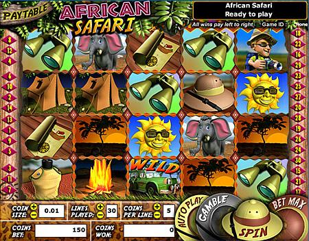 king jackpot african safari 5 reel online slots game