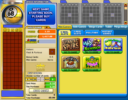king jackpot 75 ball online bingo game