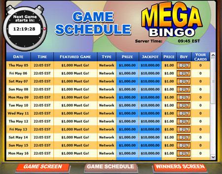 king jackpot mega bingo network online bingo game
