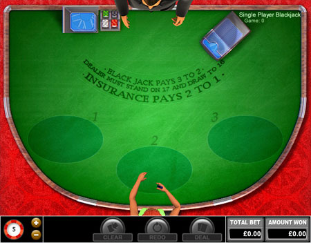 king jackpot single player blackjack online casino game