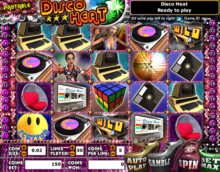 king jackpot disco heat 5 reel online slots game