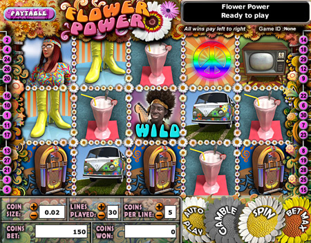 king jackpot flower power 5 reel online slots game