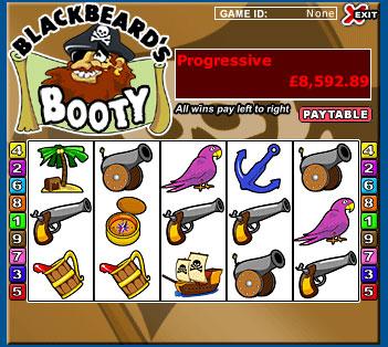 king jackpot blackbeards booty 5 reel online slots game