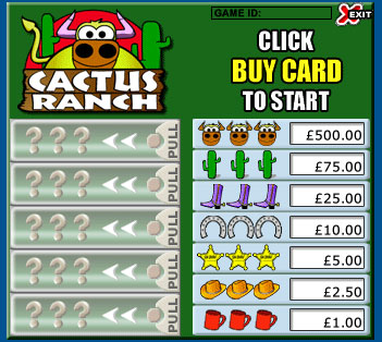 king jackpot cactus ranch pull tabs online instant win game
