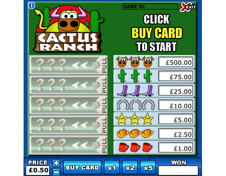 king jackpot cactus ranch online instant win game