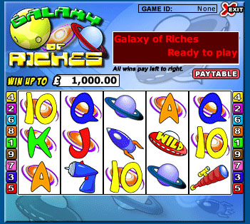 king jackpot galaxy of riches 5 reel online slots game