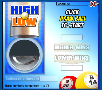 king jackpot high low online instant win game