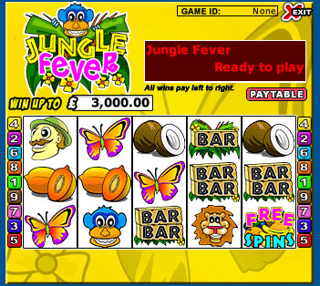 king jackpot jungle fever 5 reel online slots game