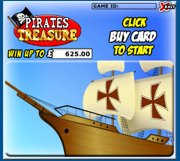 king jackpot pirates treasure scratch cards online instant win game