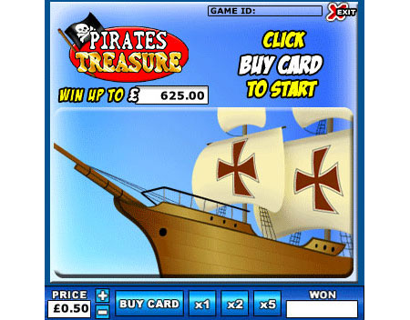 king jackpot pirates treasure online instant win game