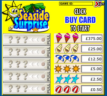 king jackpot seaside surprise pull tabs online instant win game