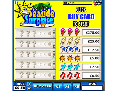 king jackpot seaside surprise online instant win game