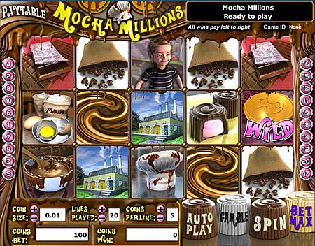 king jackpot mocha millions 5 reel online slots game