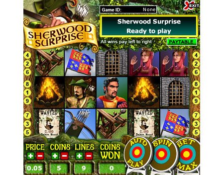 king jackpot sherwood surprise 5 reel online slots game