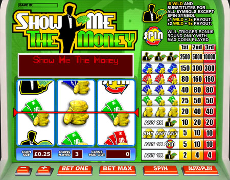 king jackpot show me the money 3 reel online slots game