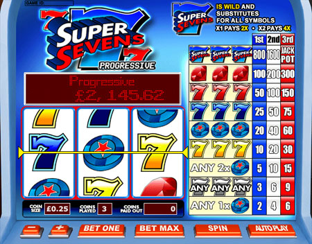 king jackpot super sevens 3 reel online slots game