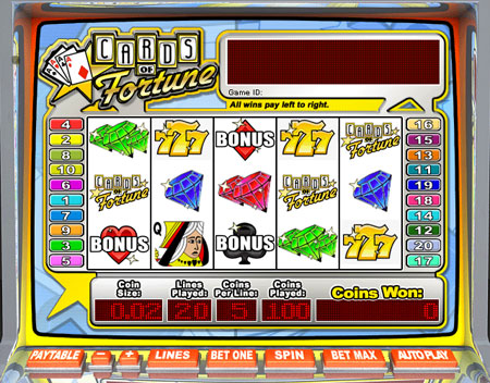 king jackpot cards of fortune 5 reel online slots game
