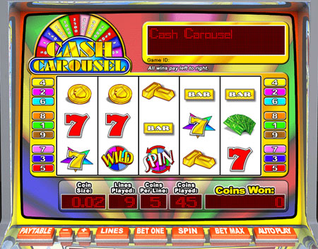 king jackpot cash carousel 5 reel online slots game