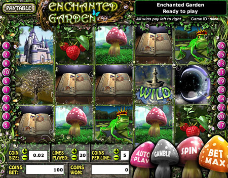 king jackpot enchanted garden 5 reel online slots game