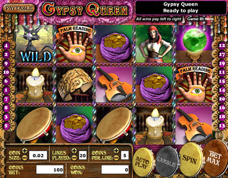 king jackpot gypsy queen 5 reel online slots game