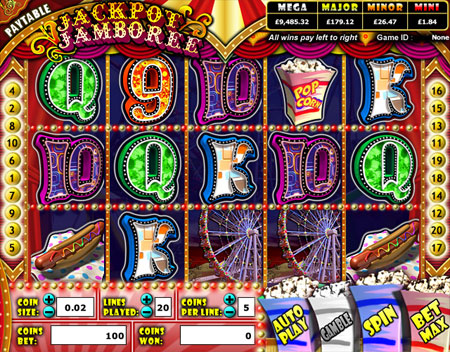 king jackpot jackpot jamboree 5 reel online slots game