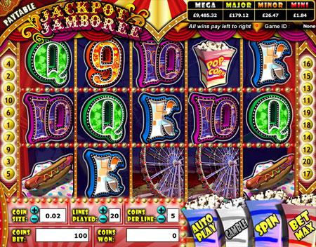 king jackpot jackpot jamboree 5 reel online slots game