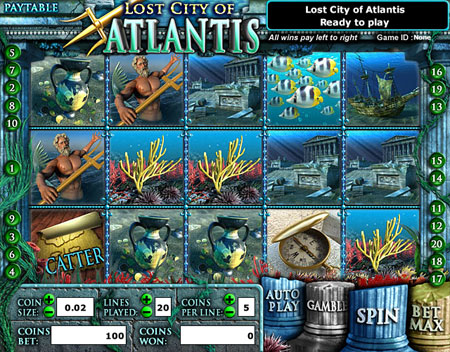 king jackpot lost city of atlantis 5 reel online slots game