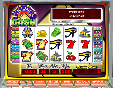 king jackpot pyramids of cash 5 reel online slots game
