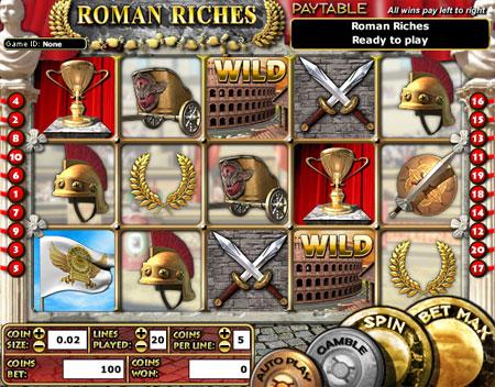 king jackpot roman riches 5 reel online slots game